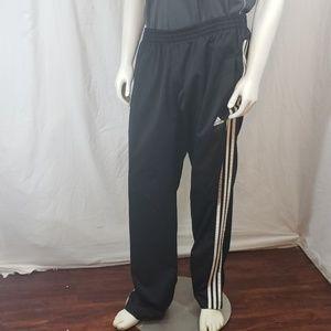 Men adidas climalite athletic gym pants black